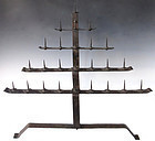 Antique Japanese Iron Tomiodai Candleholder