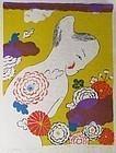 "Japanese Print by Mayumi Oda ""September Afternoon"""