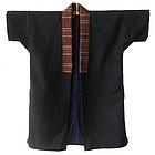 Japanese Indigo Ikat Coat