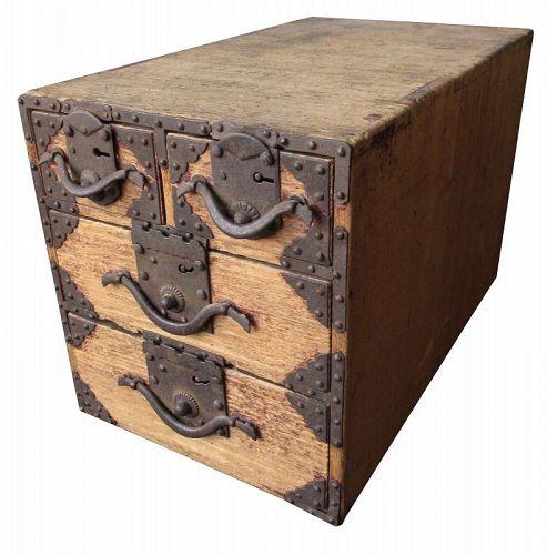 Unusual Japanese Small Kiri Box