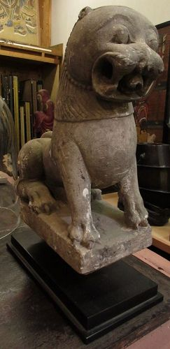 18th Century North Indian Stone Sculpture of a Lion