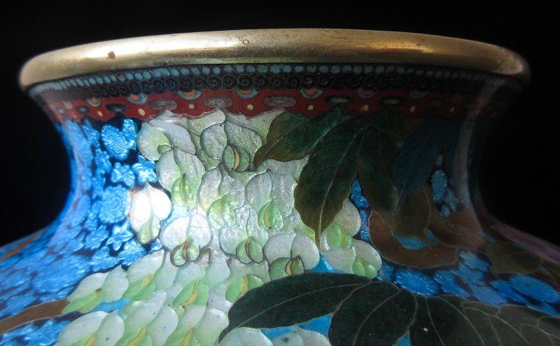 Rare Antique Japanese Large Ginbari Vase