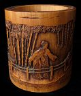Antique Chinese Bamboo Brushpot