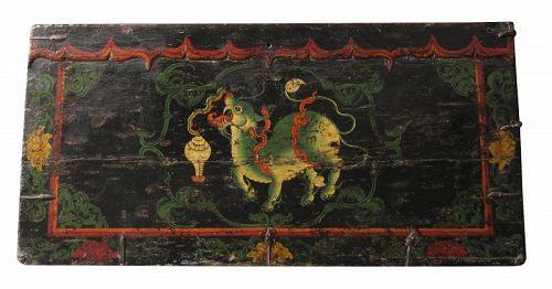 "6/"" Antique Tibet Buddhist copper gilt hand painting Sakyamuni Buddha statue"