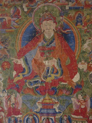 Antique Thangka Painting of Padmasambhava
