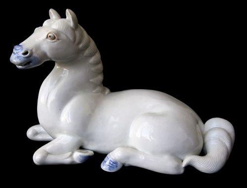 Antique Japanese Hirado Ware Porcelain Horse