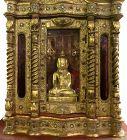 Large Burmese Teak Buddha Shrine Hpaya Khan Cabinet
