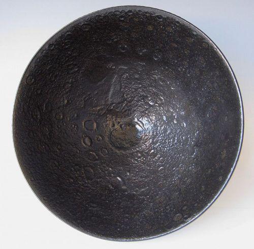 James Lovera Glossy Black Volcanic Glaze Ceramic Bowl