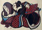 Japanese Framed Yoshitoshi Mori Print - Whispers of Love