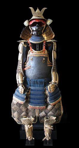18th Century Japanese Nanban Gold Lacquer Samurai Armor