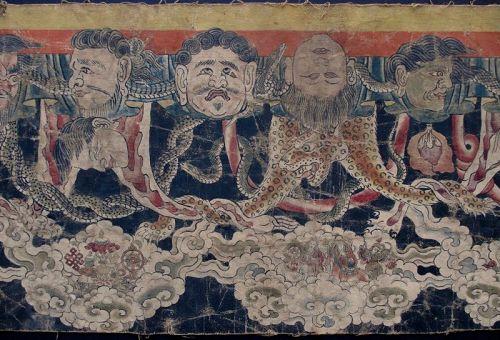 Antique Nepalese Buddhist Ceremonial Shrine Painting