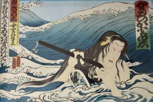 Large Japanese Framed Print by Masami Teraoka