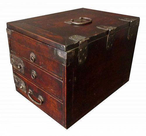 Antique Japanese Calligraphy Box