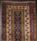 Antique Hand-Woven Caucasian Talish Azeri Runner Rug
