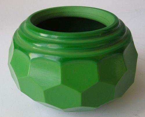 Antique Chinese Green Peking Glass Brush Washer