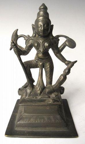 Antique Indian Bronze Figure of Durga