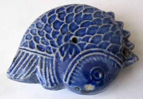 Antique Korean Porcelain Fish Water Dropper