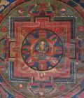 Antique Tibetan Buddhist Double Mandala Thangka Painting