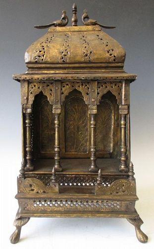 Vintage East Indian Brass Altar Shrine