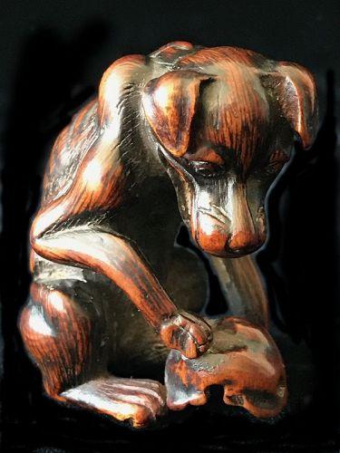 Antique Japanese Yama Inu (Dog) Netsuke