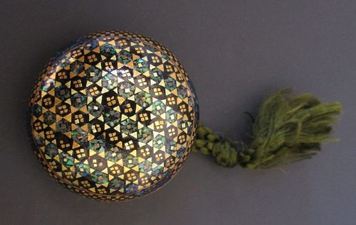 Japanese Antique Lacquer and Inlaid Manju