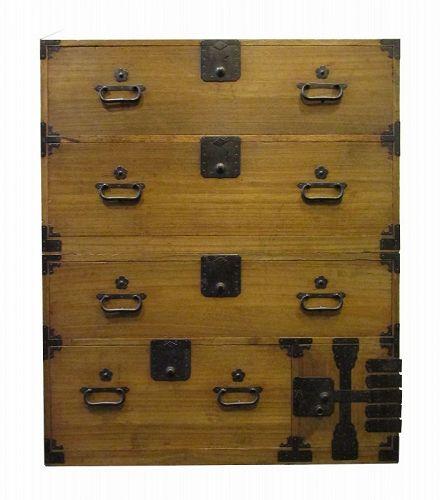 Antique Japanese 2 Section Kiri Kasane Tansu