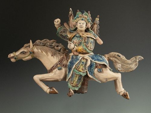 Chinese Antique Roof Tile Rider