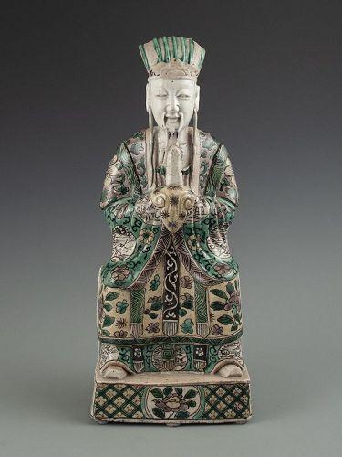 Chinese Familia Verte Deity