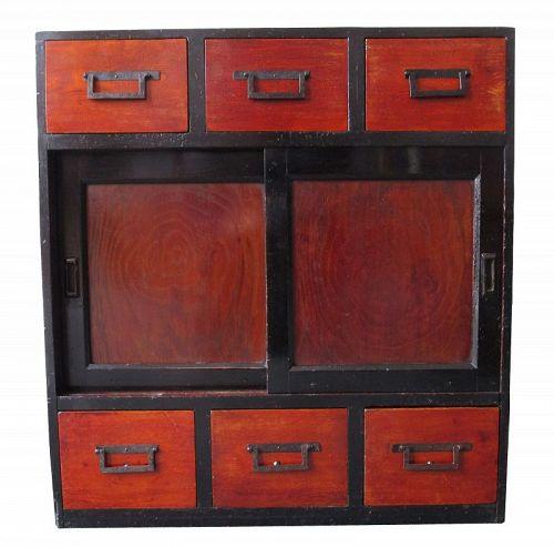 Antique Japanese Scholar's Ko Tansu (Personal Storage Chest)