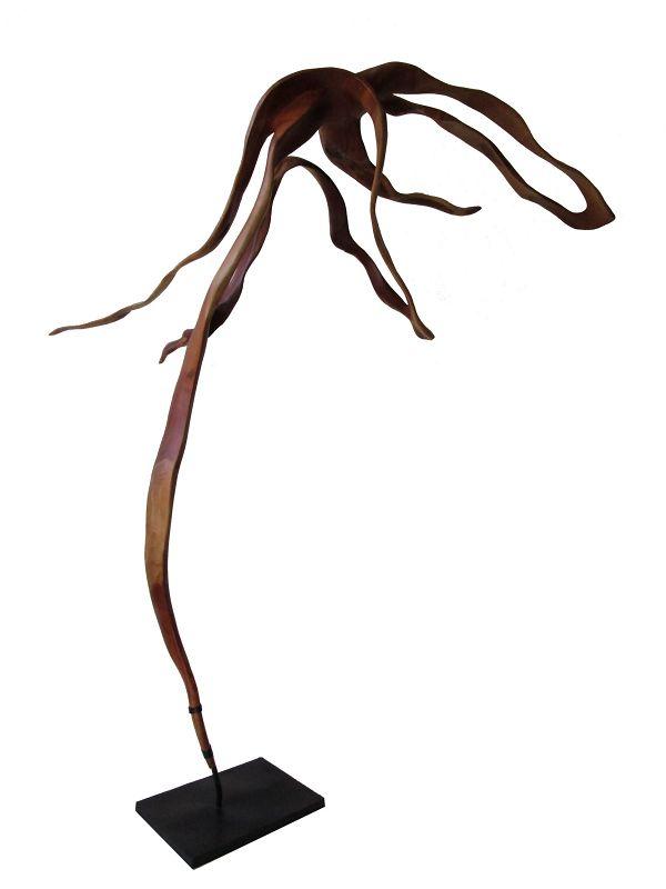 Modern Sculpture Acacia Whimsical Dancing Ballet of Ribbons Thailand
