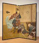 Young Samurai Preparing for Battle Byobu Matsumoto Senkyo Family