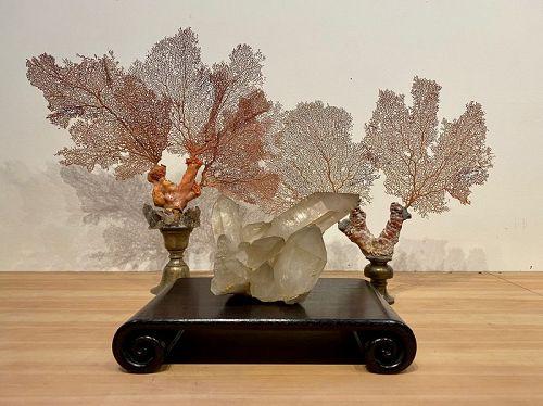 Large Natural Quartz Lightly Smoked Crystal