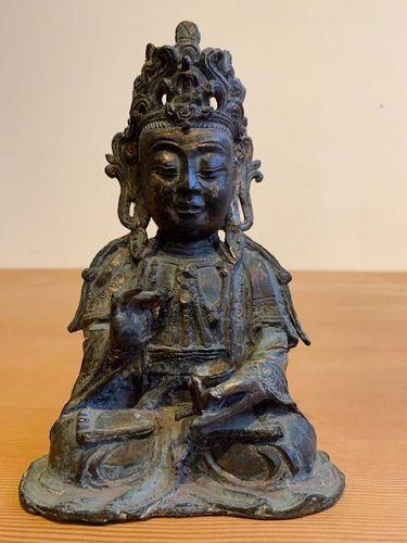 Ming Dynasty Gilt Bronze Quanyin