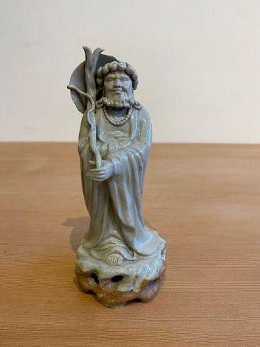 Antique Chinese Stoneware Bodhidharma Figure