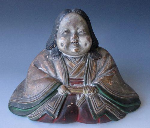 Japanese Edo Period Ceramic Figure of Otafuku (Okame)