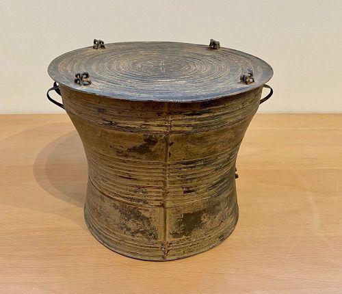Rare Small Bronze Laos Rain Drum