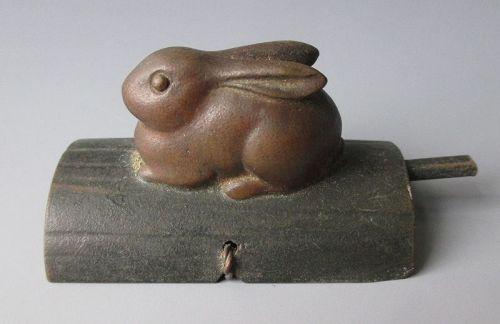 Japanese Bronze Rabbit Door Latch
