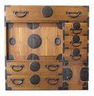 Japanese Antique Choba Tansu (Merchant Chest) Round Locks & Secret Box