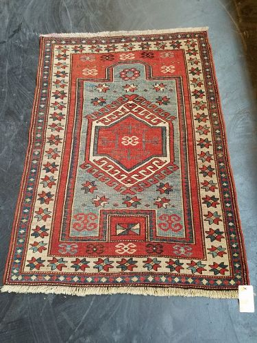 Semi-Antique Tribal Azeri Carpet