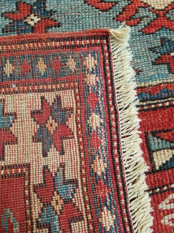 Semi-Antique Tribal Azeri Carpet