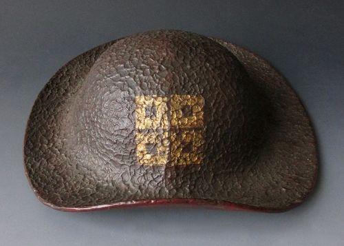 Japanese Antique Bajo Jingasa,  for a Military Horseman