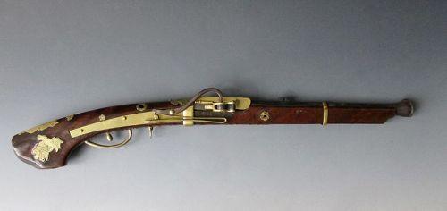 Japanese Antique Short Matchlock Tanagashima (gun) Silver Arrow