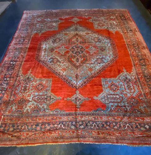 Large Oushak Turkish Handknotted Wool Carpet