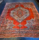 Large Oushak Turkish Handknotted Wool Carpet