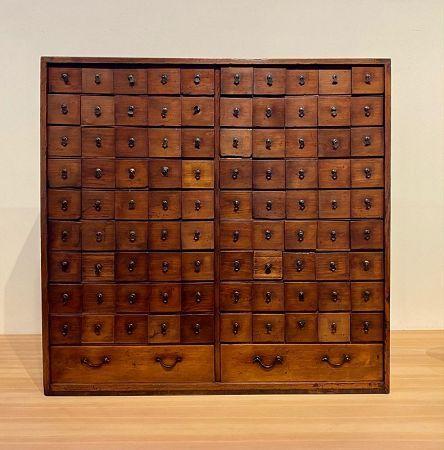 Kusuri Tansu (Apothecary Chest) 92 Drawer Japanese Antique Edo Era