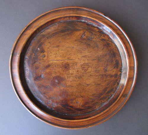 Korean Antique Round Wooden Food Tray,  Joseon Dynasty