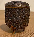 Japanese Antique Gilt Bronze Chrysanthemum Incensor