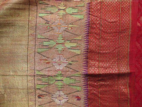 Indian Banarasi Silk Brocade Wedding Saree with Gold Zari