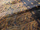 Indian Banarasi Silk Brocade Deep Blue Saree with Gold Zari
