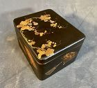 Japanese Lacquered Two Tired Box with Rabbit
